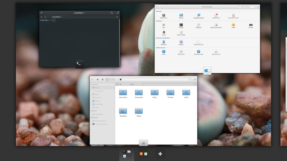 elementary OS workspaces